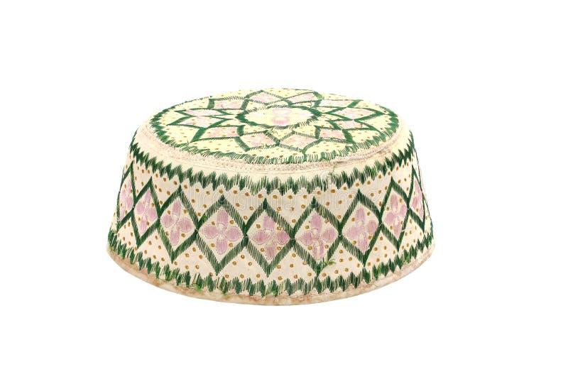 穆斯林的Kopiah帽子 免版税库存照片