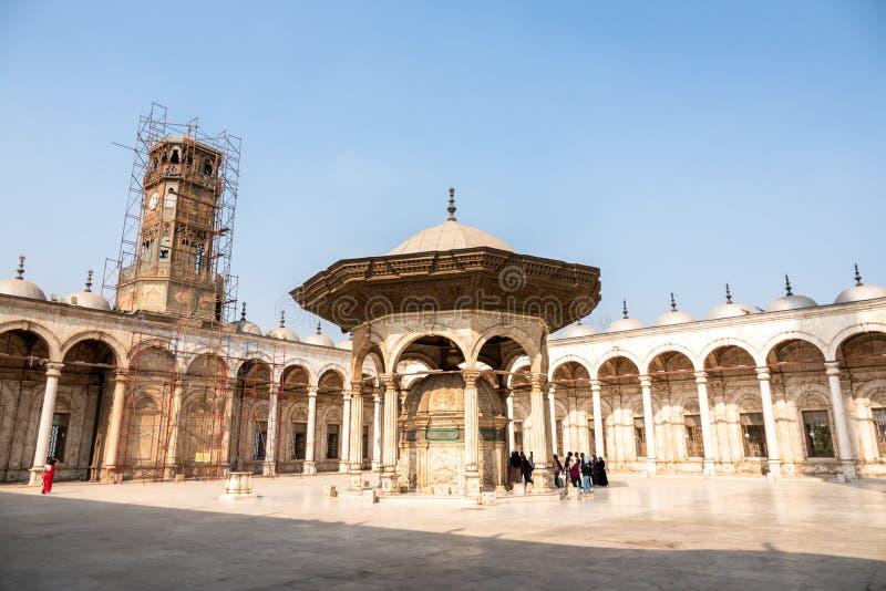 穆罕默德・阿里清真寺在白天的开罗埃及 免版税库存图片