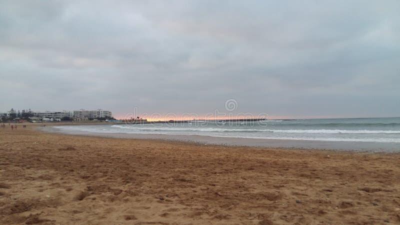 穆罕默迪耶海滩摩洛哥 库存照片