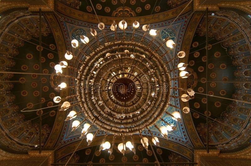 穆罕默德阿里清真寺圆顶,萨拉丁城堡-开罗,埃及 库存图片
