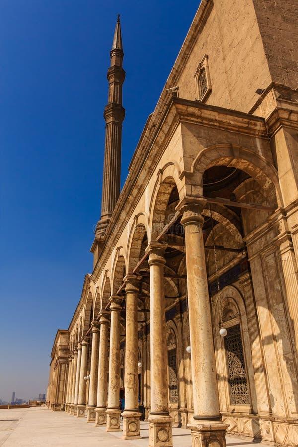 穆罕默德阿里清真寺,开罗,埃及萨拉丁城堡  库存照片