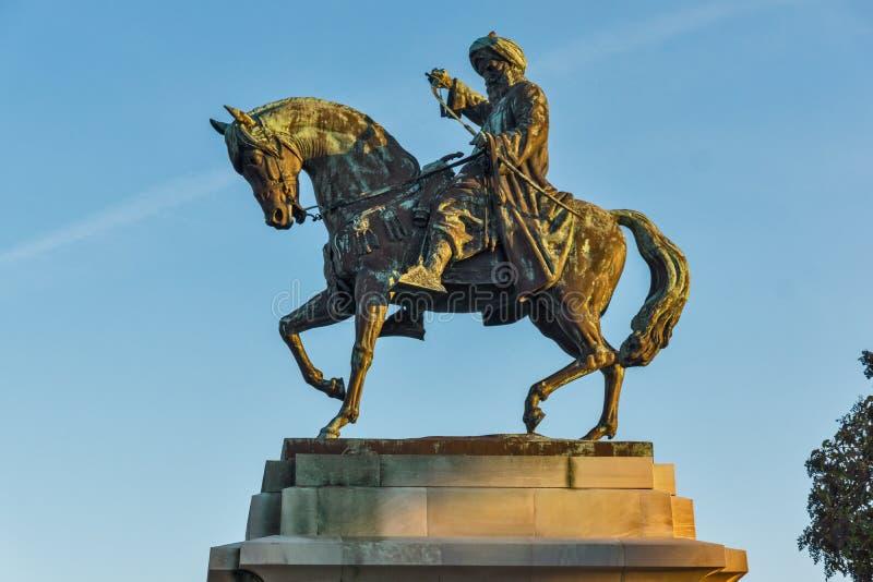 穆罕默德・阿里帕夏纪念碑在卡瓦拉,希腊 免版税库存图片