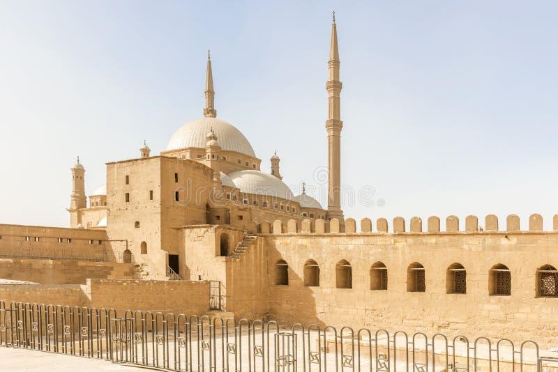 穆罕默德・阿里清真寺在萨拉丁城堡老Cair的 免版税库存图片