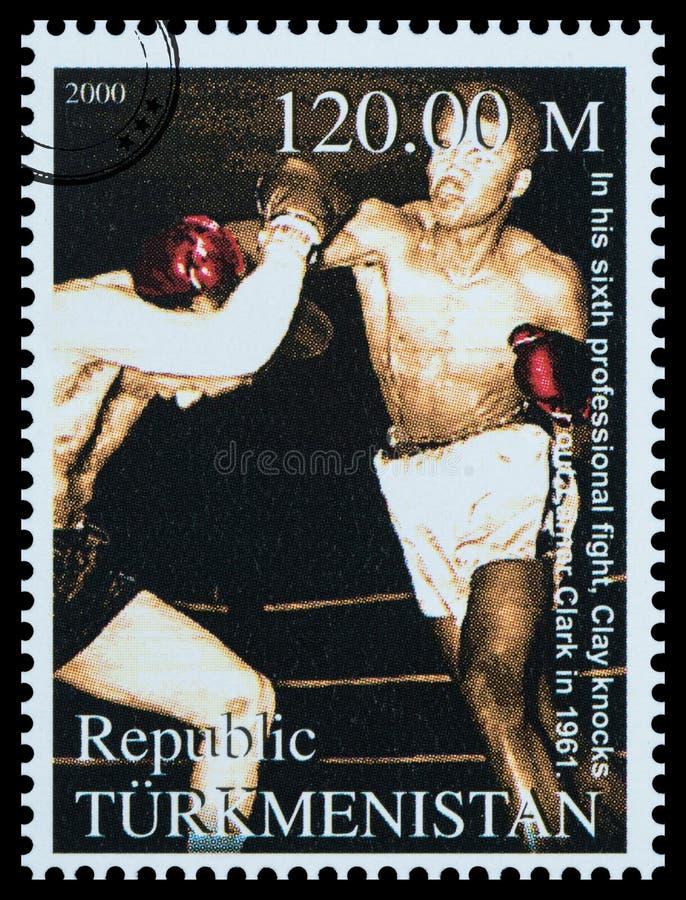 穆罕默德・阿里邮票 库存照片