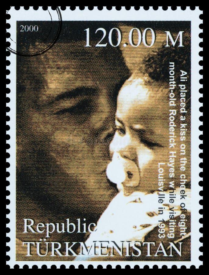 穆罕默德・阿里邮票 库存图片