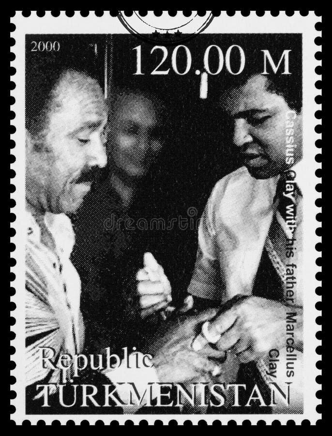 穆罕默德・阿里邮票 图库摄影