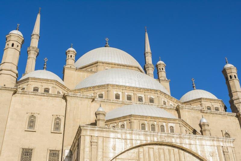 穆罕默德・阿里,开罗,埃及的萨拉丁城堡清真寺  库存图片