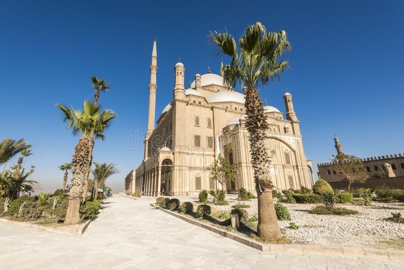 穆罕默德・阿里,开罗(埃及)的萨拉丁城堡清真寺  图库摄影