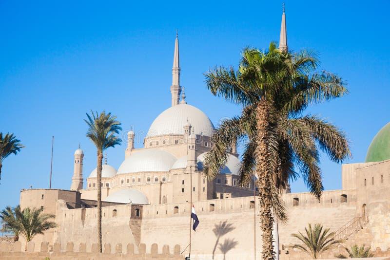穆罕默德・阿里巴夏或雪花石膏清真寺清真寺  图库摄影