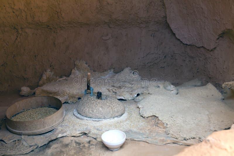 穴居人洞在Matmata地区 图库摄影