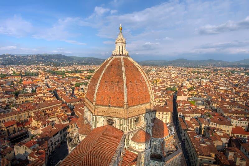 空中中央寺院佛罗伦萨意大利 免版税库存图片