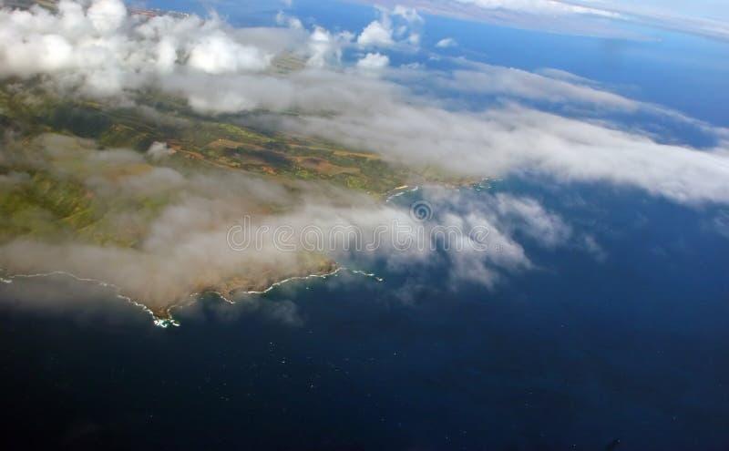 空中云彩形成 免版税库存图片