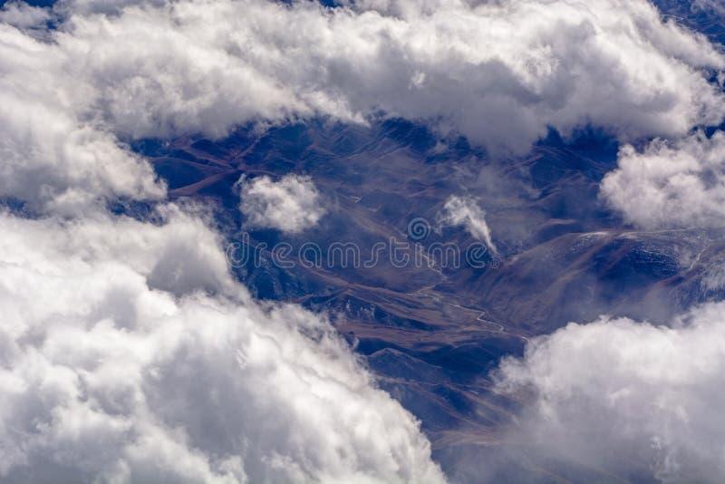 空中云彩形成 免版税图库摄影
