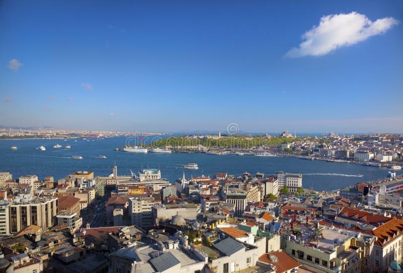 空中伊斯坦布尔视图 免版税库存图片