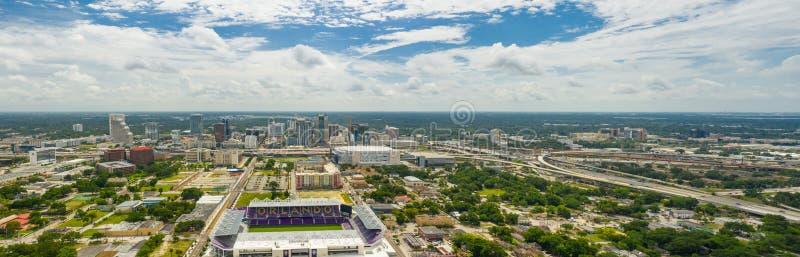 空中全景街市奥兰多FL 免版税图库摄影