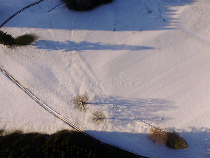 空中冬天风景 图库摄影
