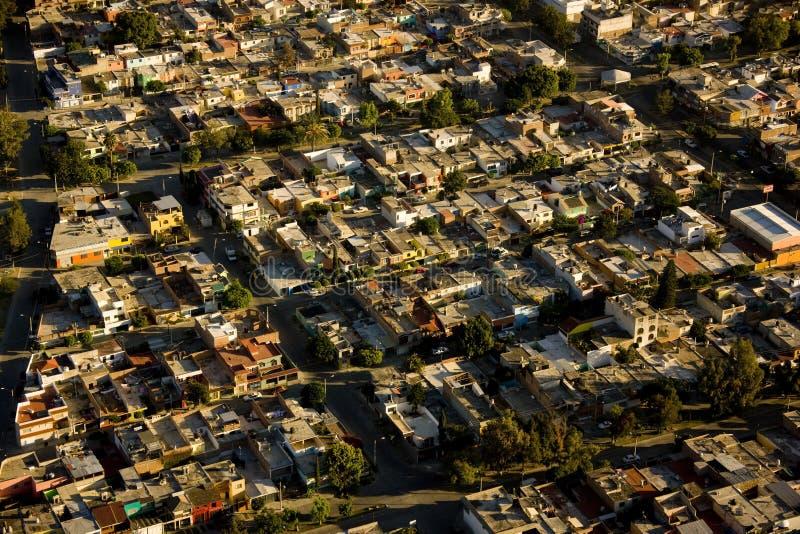 空中利昂墨西哥视图 图库摄影