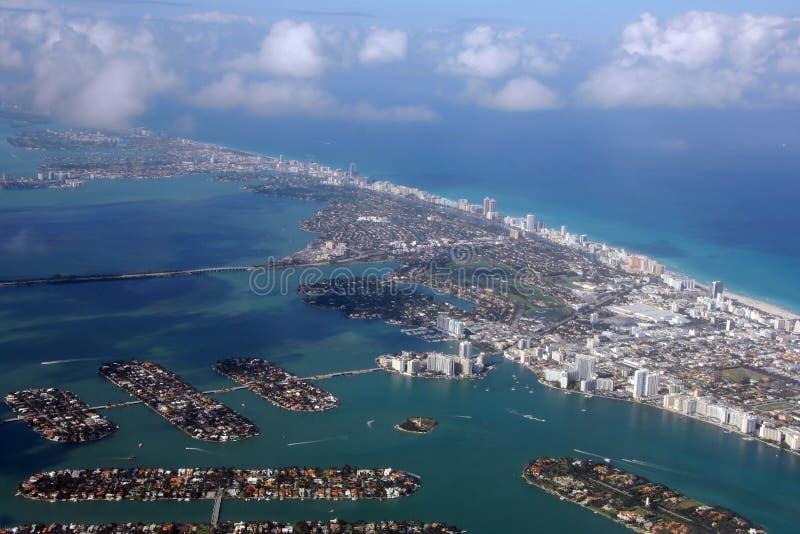 空中区海滩迈阿密 图库摄影
