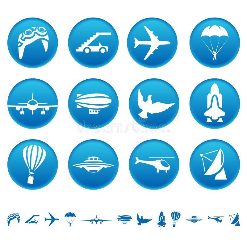 空中图标 向量例证