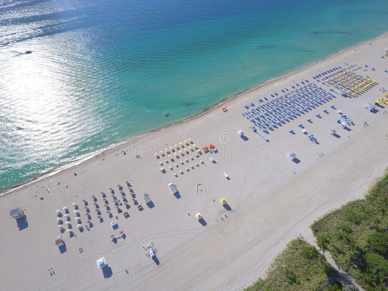 空中图象迈阿密海滩沙子 库存照片