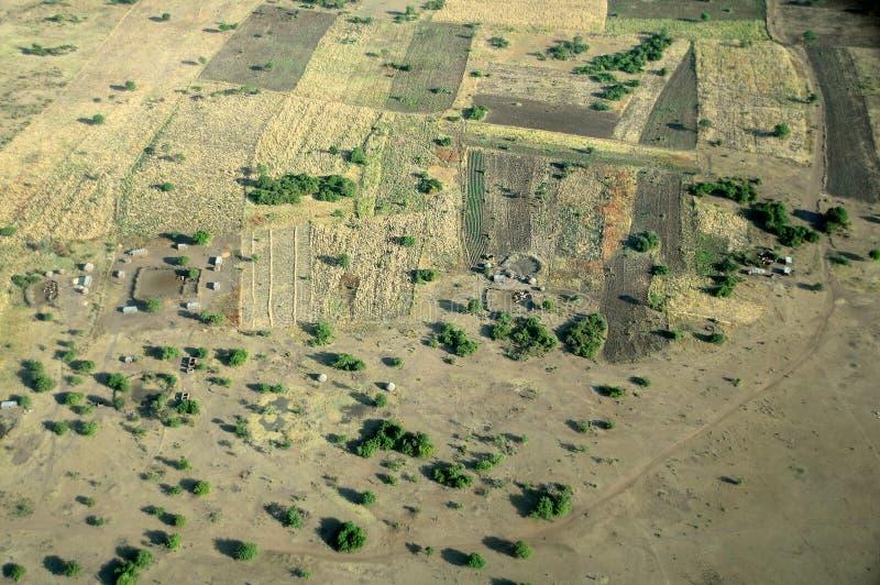 空中坦桑尼亚 图库摄影