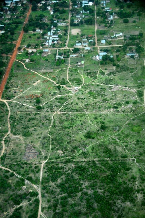 空中坦桑尼亚 库存照片