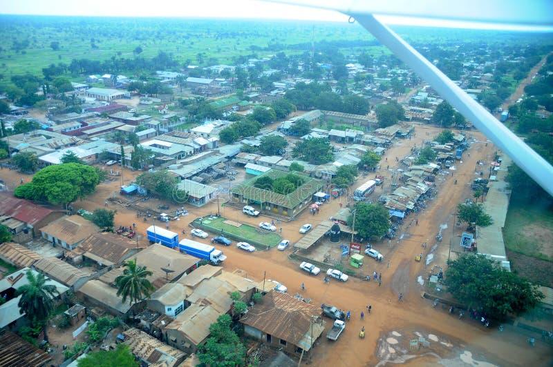 空中坦桑尼亚 免版税图库摄影