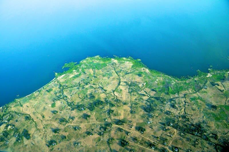 空中坦桑尼亚 库存图片