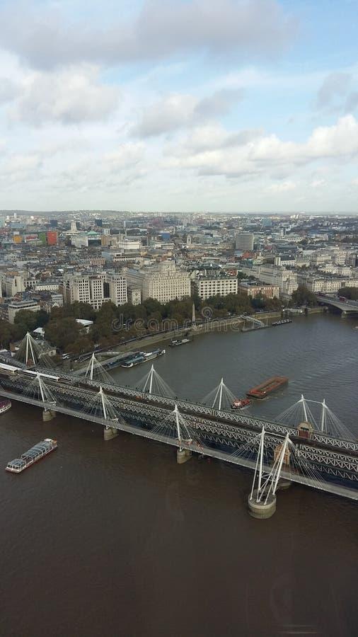 空中城市伦敦视图 免版税图库摄影