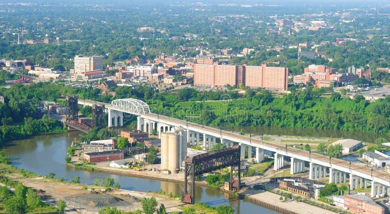 空中城市俄亥俄 免版税图库摄影