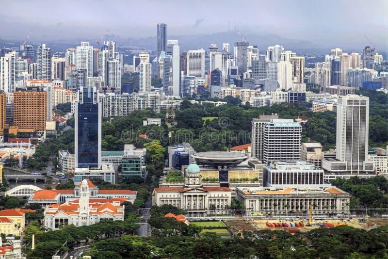 空中城市新加坡视图 免版税图库摄影