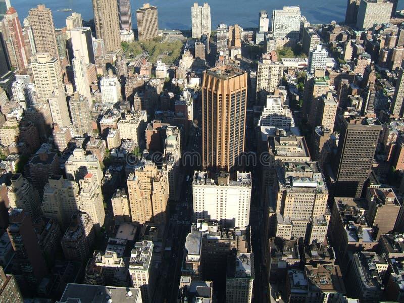 空中城市newyork视图 免版税库存照片