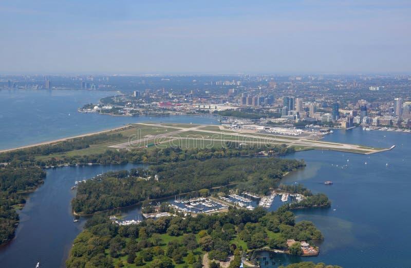 空中多伦多的海岛 图库摄影