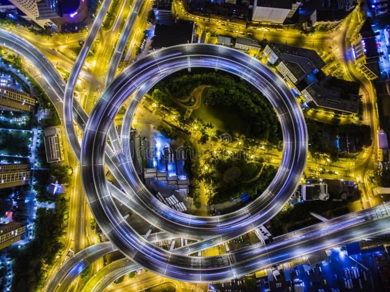 空中天桥上海南浦大桥中国 免版税库存图片