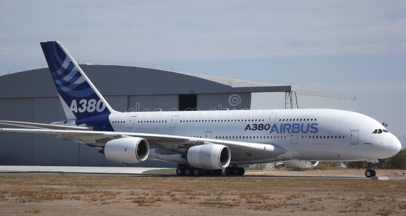 空中客车A380 FIDAE 免版税库存图片