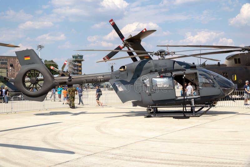 空中客车H145M军事公共直升机德国人空军 库存照片