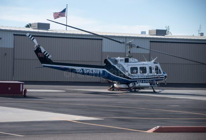 空中支援圣地亚哥县的警长 免版税库存照片