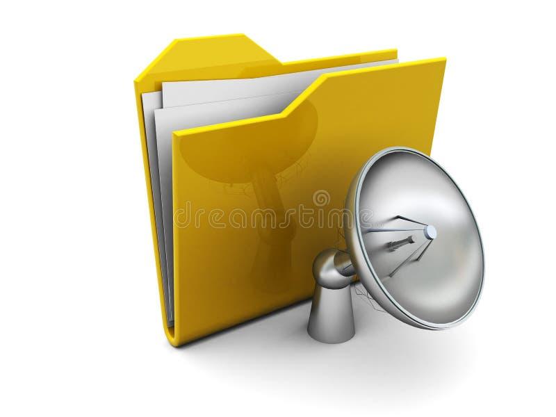 空中文件夹图标收音机 皇族释放例证
