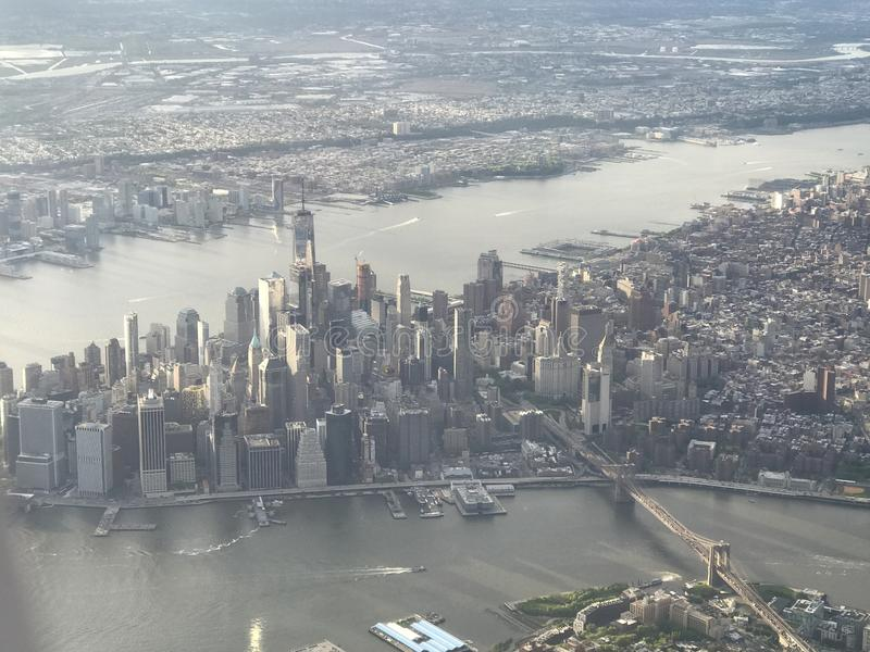 空中曼哈顿视图 库存照片