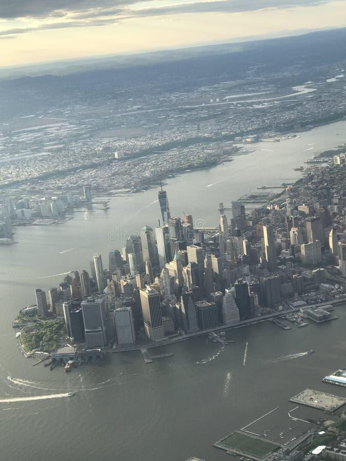 空中曼哈顿视图 免版税库存照片