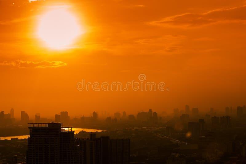 空中曼谷视图 免版税图库摄影