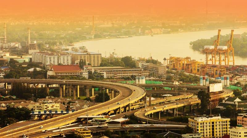 空中曼谷视图 免版税库存图片