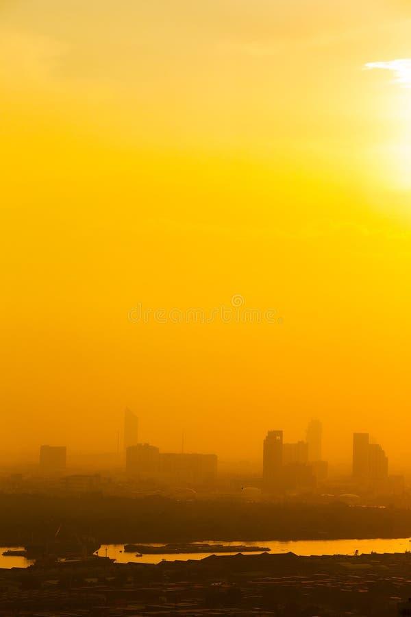 空中曼谷视图 库存照片