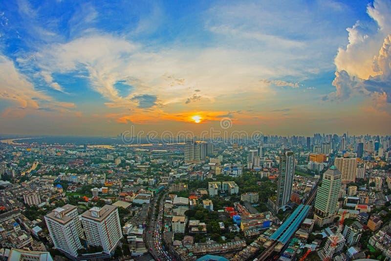 空中曼谷视图 库存图片