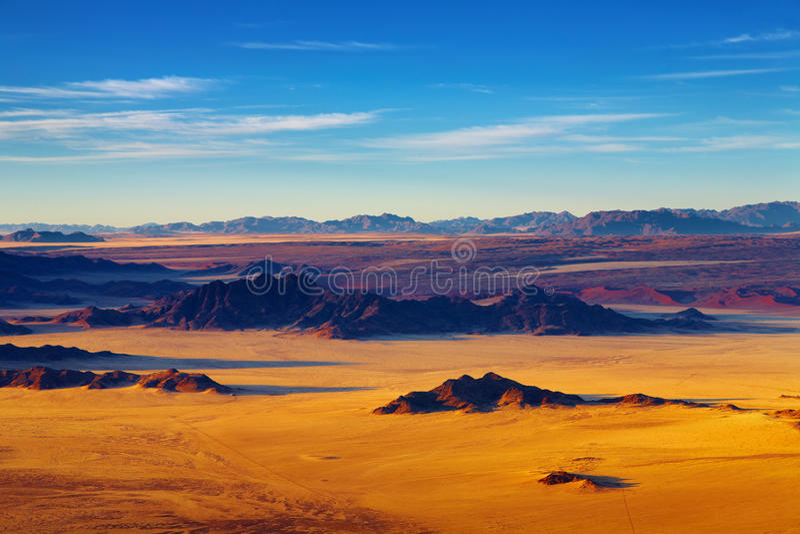 空中沙漠namib视图 免版税库存图片