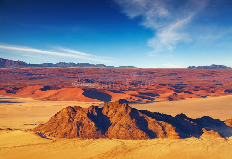 空中沙漠namib视图 免版税库存照片
