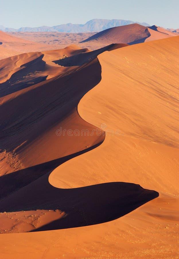空中沙漠namib视图 库存照片