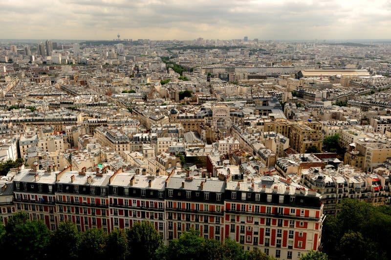 空中法国巴黎照片 库存照片