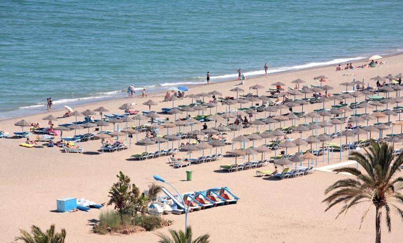 空中海滩假日游客假期视图 图库摄影