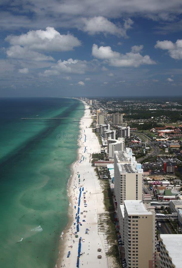 空中海滩城市巴拿马 免版税库存图片